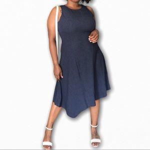NWT Sleeveless Dark Blue Midi Dress by Ann Taylor